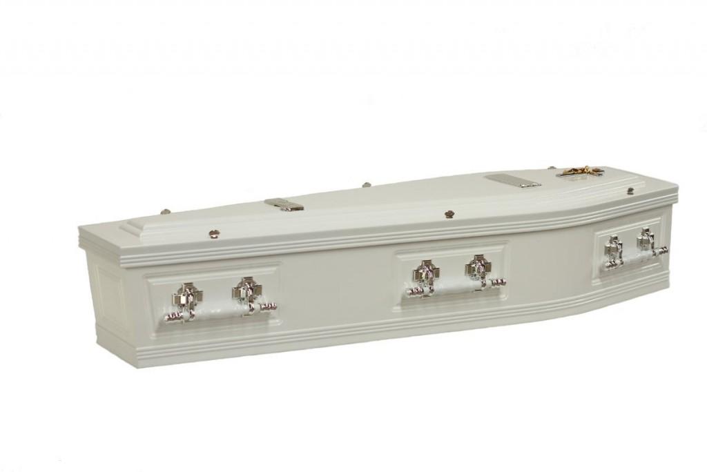 Double Raised Lid Side Panel Coffin - Stan Crapp Funerals