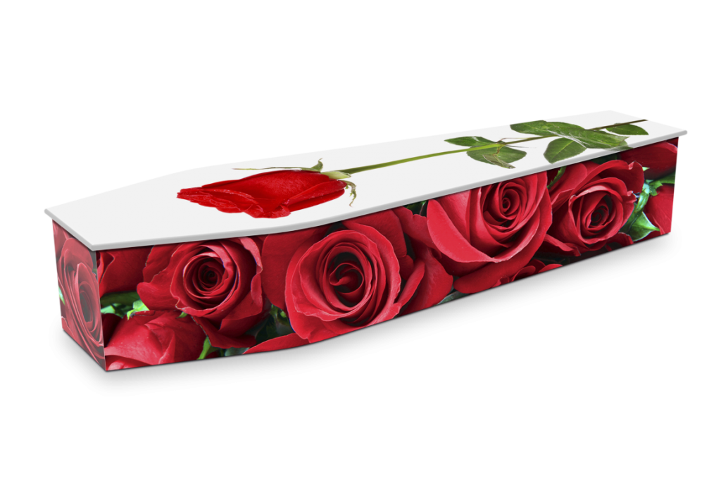 Expression Red Rose Coffin