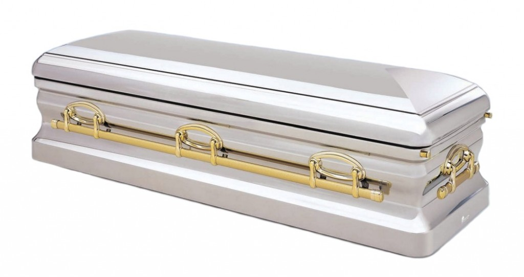 The Millennium Coffin, available at Stan Crapp Funerals