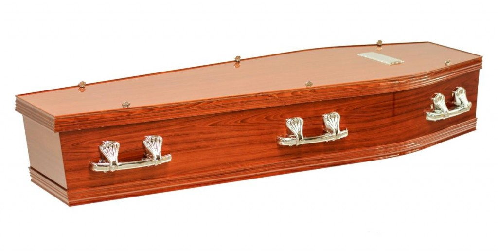 At Stan Crapp Funerals, the Richmond Maple Coffin is available with these feature: Includes six silver handles and nameplate Interior lined with swansdown edged with a gold trim Available in Maple or Rosewood stain with a gloss finish